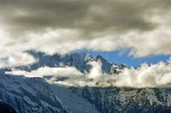 Παγετώνες Mingyong βουνών χιονιού Meili Στοκ Εικόνες