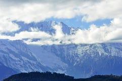 Παγετώνες Mingyong βουνών χιονιού Meili Στοκ Φωτογραφίες