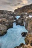 Παγετώδης λίμνη ποταμών, Barnafoss, Ισλανδία Στοκ Εικόνες