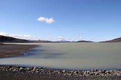 Παγετώδης λίμνη στην Ισλανδία. Στοκ Εικόνες