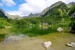 Παγετώδης λίμνη Popradske Pleso σε υψηλό Tatras Στοκ φωτογραφίες με δικαίωμα ελεύθερης χρήσης