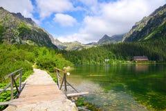 Παγετώδης λίμνη Popradske Pleso Στοκ φωτογραφία με δικαίωμα ελεύθερης χρήσης