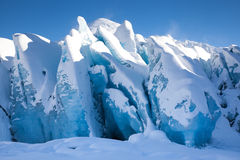 Παγετώδης μπλε πάγος στοκ εικόνες