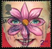 Παγιοποιήστε το βρετανικό γραμματόσημο παιδιών στοκ εικόνες