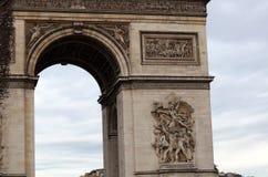 Παγκοσμίως διάσημο ορόσημο Arc de Triomphe στο Παρίσι Γαλλία κατά τη διάρκεια της ανατολής κανένας άνθρωπος στην εικόνα Στοκ εικόνες με δικαίωμα ελεύθερης χρήσης