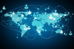 Παγκοσμίως και έννοια δικτύων στοκ φωτογραφίες