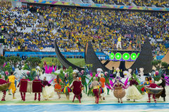ΠΑΓΚΟΣΜΙΟ ΚΎΠΕΛΛΟ ΒΡΑΖΙΛΙΑ 2014 ΤΗΣ FIFA Στοκ φωτογραφία με δικαίωμα ελεύθερης χρήσης