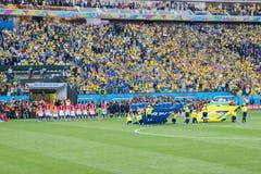 ΠΑΓΚΟΣΜΙΟ ΚΎΠΕΛΛΟ ΒΡΑΖΙΛΙΑ 2014 ΤΗΣ FIFA Στοκ Εικόνα