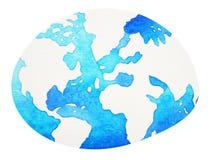 Παγκόσμιας γης χέρι ζωγραφικής watercolor που σύρεται σφαιρικό Στοκ φωτογραφίες με δικαίωμα ελεύθερης χρήσης