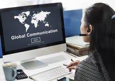 Παγκόσμια έννοια αρχικών σελίδων ιστοχώρου παγκόσμιων επικοινωνιών Στοκ Εικόνα
