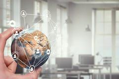 Παγκόσμια έννοια τεχνολογίας MEDIA Μικτά μέσα Στοκ Εικόνα