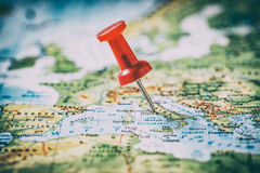 Παγκόσμια έννοια χαρτών επιχειρησιακού ταξιδιού διακινούμενη Στοκ Εικόνα