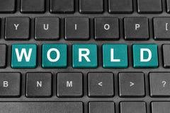 Παγκόσμια λέξη στο πληκτρολόγιο Στοκ Φωτογραφία