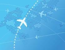 Παγκόσμια αεροπλάνα ελεύθερη απεικόνιση δικαιώματος