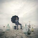 παγκόσμια αύξηση της θερμοκρασίας λόγω του φαινομένου του θερμοκηπίου έννοιας στοκ εικόνες