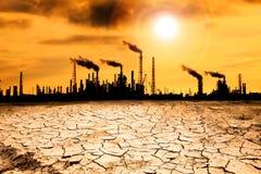 παγκόσμια αύξηση της θερμοκρασίας λόγω του φαινομένου του θερμοκηπίου έννοιας Στοκ φωτογραφία με δικαίωμα ελεύθερης χρήσης