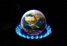 παγκόσμια αύξηση της θερμοκρασίας λόγω του φαινομένου του θερμοκηπίου Στοκ Φωτογραφία