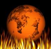 παγκόσμια αύξηση της θερμοκρασίας λόγω του φαινομένου του θερμοκηπίου ελεύθερη απεικόνιση δικαιώματος