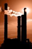 παγκόσμια αύξηση της θερμοκρασίας λόγω του φαινομένου του θερμοκηπίου στοκ εικόνα