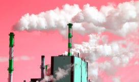 παγκόσμια αύξηση της θερμοκρασίας λόγω του φαινομένου του θερμοκηπίου Στοκ Εικόνες