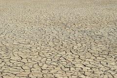 Παγκόσμια αύξηση της θερμοκρασίας λόγω του φαινομένου του θερμοκηπίου, στεριά με τις ρωγμές Στοκ Φωτογραφίες