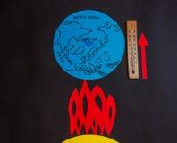 Παγκόσμια αύξηση της θερμοκρασίας λόγω του φαινομένου του θερμοκηπίου της γης Στοκ φωτογραφία με δικαίωμα ελεύθερης χρήσης