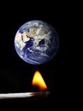 παγκόσμια αύξηση της θερμ&omic Στοκ Εικόνες