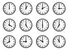 Παγκόσμια διαφορά ώρας, ρολόι τοίχων   Στοκ Εικόνες