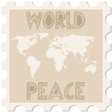Παγκόσμια ειρήνη γραμματοσήμων απεικόνιση αποθεμάτων