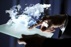 Παγκόσμια επικοινωνία και δικτύωση τρισδιάστατη απόδοση στοκ φωτογραφία