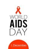 Παγκόσμια Ημέρα κατά του AIDS 1 Δεκεμβρίου Στοκ Φωτογραφίες