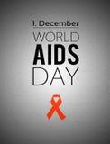 Παγκόσμια Ημέρα κατά του AIDS 1 Δεκεμβρίου Στοκ εικόνα με δικαίωμα ελεύθερης χρήσης