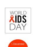 Παγκόσμια Ημέρα κατά του AIDS 1 Δεκεμβρίου Στοκ Εικόνα