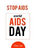Παγκόσμια Ημέρα κατά του AIDS 1 Δεκεμβρίου Στοκ φωτογραφίες με δικαίωμα ελεύθερης χρήσης