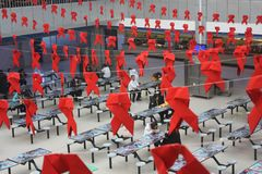 Παγκόσμια Ημέρα κατά του AIDS στοκ φωτογραφίες με δικαίωμα ελεύθερης χρήσης