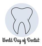 Παγκόσμια ημέρα του οδοντιάτρου Στοκ φωτογραφία με δικαίωμα ελεύθερης χρήσης