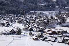 Ιστορικό χωριό Shirakawago Στοκ Εικόνες