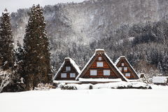 Ιστορικό χωριό Shirakawago Στοκ εικόνες με δικαίωμα ελεύθερης χρήσης