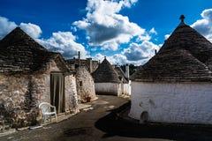 Παγκόσμια κληρονομιά Alberobello Ιταλία της ΟΥΝΕΣΚΟ Στοκ Εικόνες