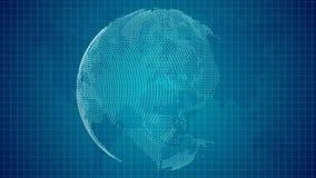 Παγκόσμια οικονομία με το μπλε υπόβαθρο απόθεμα βίντεο