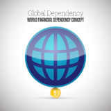 Παγκόσμια οικονομική εξάρτηση Στοκ Εικόνες