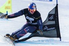 Παγκόσμια πρωταθλήματα 2013, Stoneham σνόουμπορντ FIS στοκ εικόνα με δικαίωμα ελεύθερης χρήσης