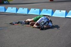 Παγκόσμια πρωταθλήματα θερινού Biathlon IBU, Cheile Gradistei, 2015 Στοκ φωτογραφία με δικαίωμα ελεύθερης χρήσης