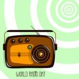 Παγκόσμια ραδιο ημέρα radio retro Στοκ φωτογραφίες με δικαίωμα ελεύθερης χρήσης
