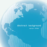 Παγκόσμια σφαίρα γραμμών ράστερ Στοκ Εικόνα
