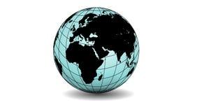 Παγκόσμια σφαίρα που απομονώνεται στο άσπρο υπόβαθρο r ελεύθερη απεικόνιση δικαιώματος