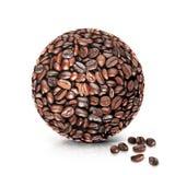 Παγκόσμια τρισδιάστατη απεικόνιση καφέ Στοκ Εικόνα