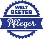 Παγκόσμια ` s καλύτερη γηριατρική νοσοκόμα - γερμανικά ελεύθερη απεικόνιση δικαιώματος