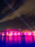 Παγκόσμια ` s μεγαλύτερη πολύχρωμη πηγή Στοκ Φωτογραφία