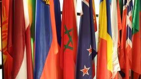 Παγκόσμιες σημαίες σε μια σειρά απόθεμα βίντεο